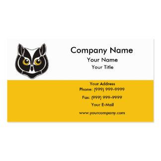 Cabeça da coruja cartão de visita