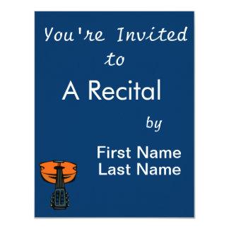 cabeça da guitarra acústica em orange.png convite 10.79 x 13.97cm