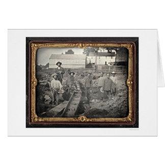 Cabeça da ravina castanha-aloirada, 1852 por cartão comemorativo