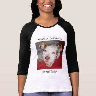 Cabeça da segurança, pitbull Ter… Camiseta