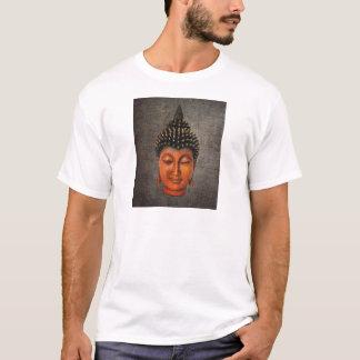 Cabeça de Buddha na luz afligida do duro do fundo Camiseta