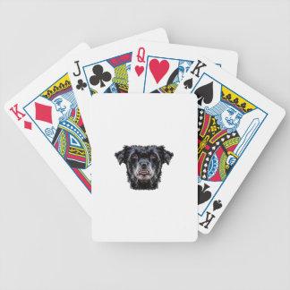 Cabeça de cão preto do demónio cartas de baralhos