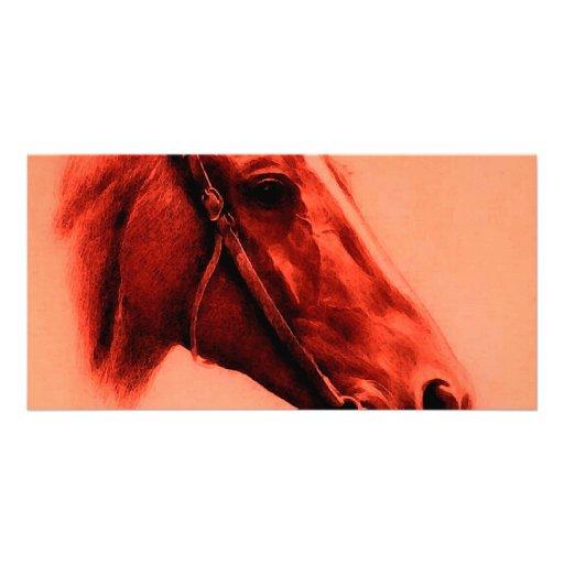 Cabeça de cavalo cartão com foto personalizado