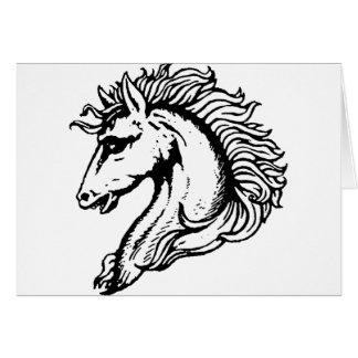 Cabeça de cavalo cartão comemorativo
