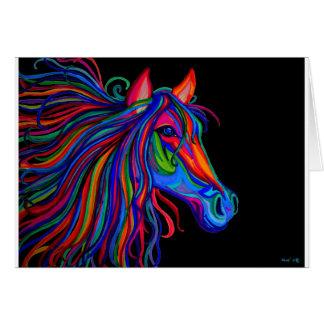 cabeça de cavalo do arco-íris cartão comemorativo