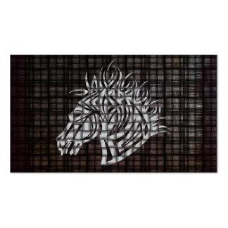 Cabeça de cavalos estilizado em um fundo tecido cartão de visita