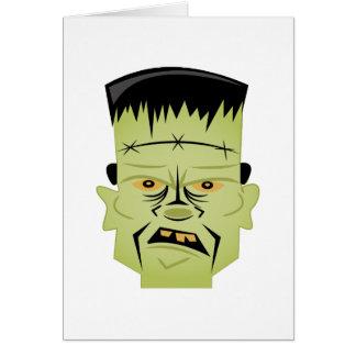 Cabeça de Frankenstein Cartão Comemorativo