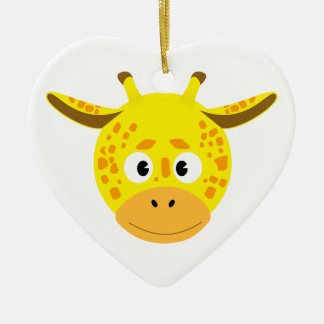 Cabeça de Girafa Ornamento De Cerâmica