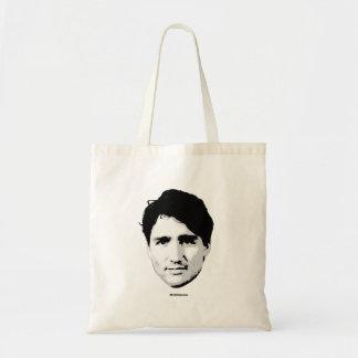 Cabeça de Justin Trudeau do primeiro ministro - Sacola Tote Budget