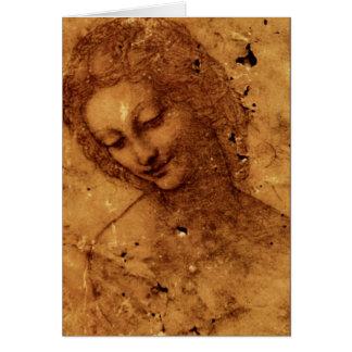 Cabeça de Leda Cartão Comemorativo