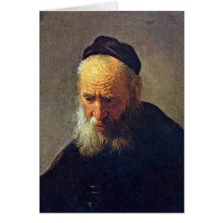 Cabeça de um ancião pelo círculo de Rembrandt Cartão Comemorativo