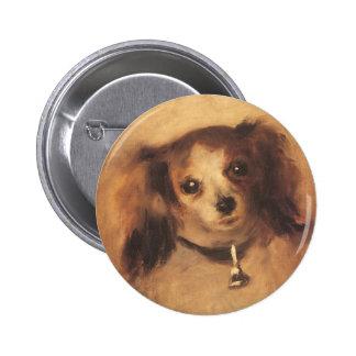 Cabeça de um cão por Pierre Renoir, belas artes do Bóton Redondo 5.08cm