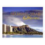 Cabeça do diamante, Honolulu, Havaí Cartão Postal