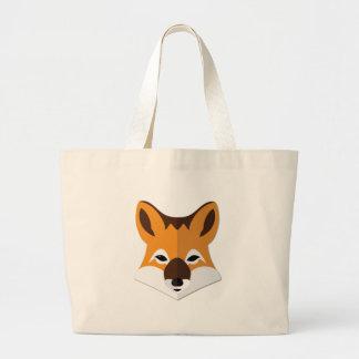 Cabeça do Fox dos desenhos animados Bolsas Para Compras