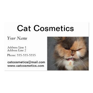 cabeça do gato persa - salão de beleza do animal cartão de visita
