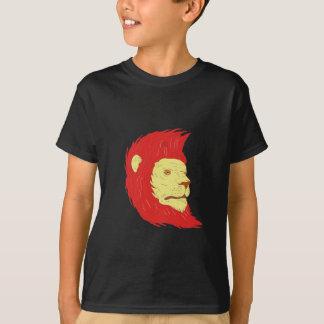 Cabeça do leão com o desenho de fluxo da juba camiseta