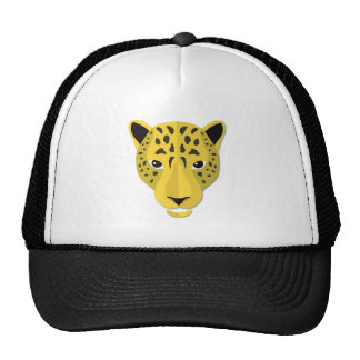Cabeça do leopardo dos desenhos animados boné