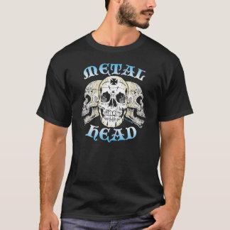 Cabeça do metal por Grafixs© duro Camiseta