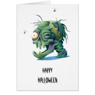 Cabeça do monstro cartão comemorativo