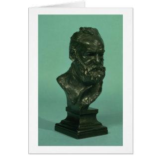 Cabeça do retrato de Victor Hugo (1802-85) (bronze Cartão
