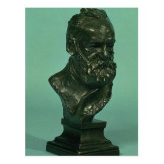 Cabeça do retrato de Victor Hugo (1802-85) (bronze Cartão Postal