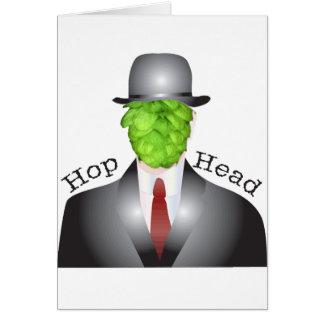 cabeça do salto cartão comemorativo