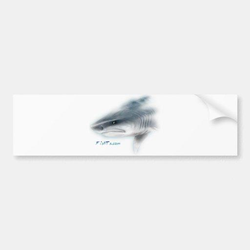 Cabeça do tubarão de tigre adesivos
