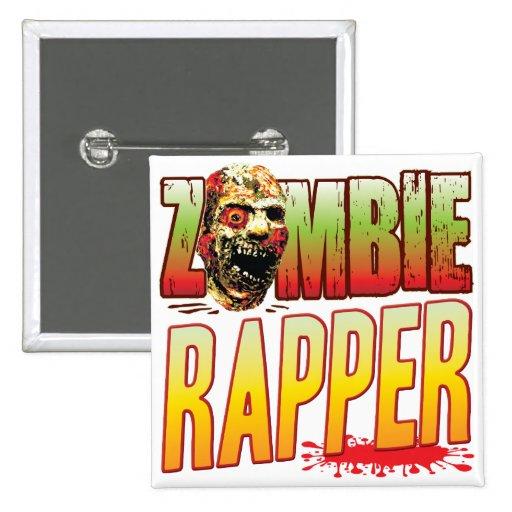 Cabeça do zombi do rapper botons