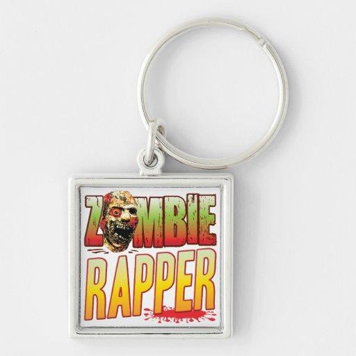Cabeça do zombi do rapper chaveiros