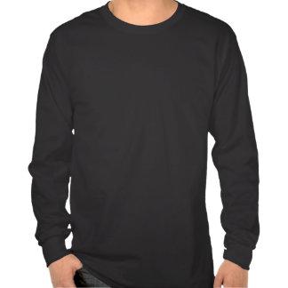 Cabeça e gancho dos peixes - preto e branco t-shirts