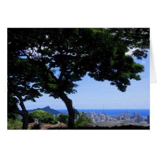 Cabeça e Waikiki do diamante Cartão Comemorativo