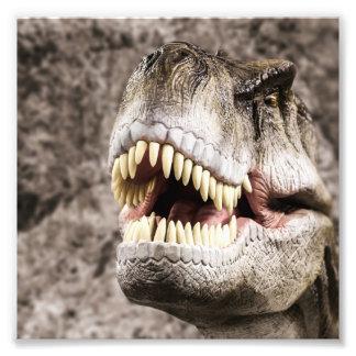 Cabeça feroz de T-Rex Impressão De Foto