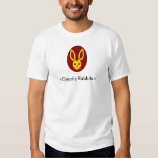 Cabeça mortal do coelho, <Deadly Rabbits> Tshirt
