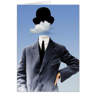 """""""Cabeça nas nuvens """" Cartão Comemorativo"""