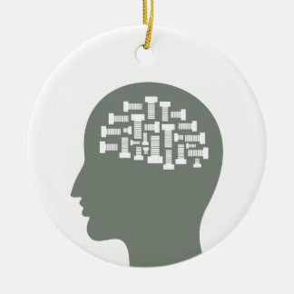 Cabeça Ornamento De Cerâmica