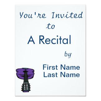 cabeça purple.png da guitarra acústica convite 10.79 x 13.97cm