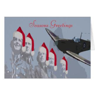 Cabeça-quente & pilotos do cartão de Natal