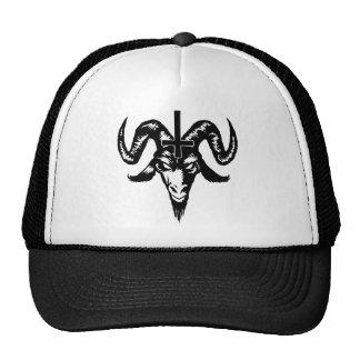 Cabeça satânica da cabra com cruz (preto) boné