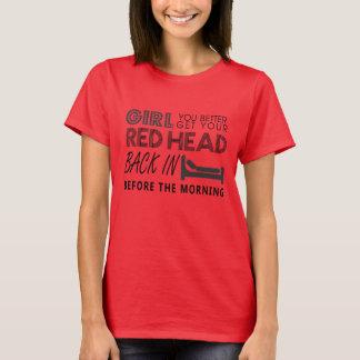Cabeça vermelha - Aint Goin para baixo - camisa de
