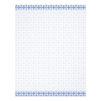 Cabeçalho azul do Weave do Victorian Papel De Carta