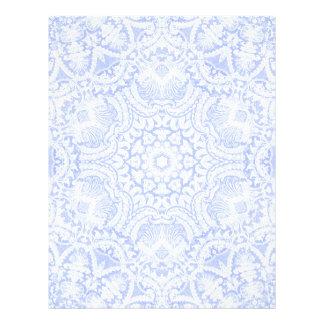Cabeçalho barroco azul elegante do laço papeis de carta personalizados