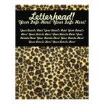 Cabeçalho customizável do impressão do leopardo papel de carta