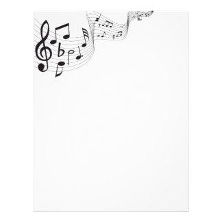 Cabeçalho da nota musical modelo de papel de carta