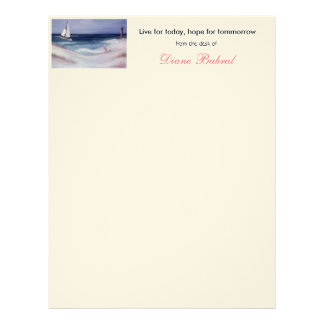 Cabeçalho da senhora cor-de-rosa papéis de carta personalizados