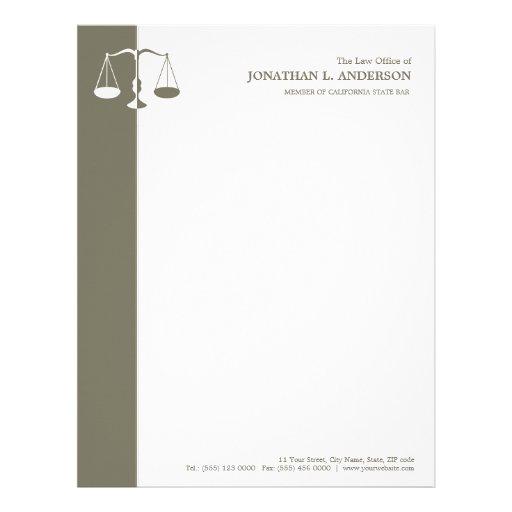 Cabeçalho do advogado/advogado papeis de carta personalizados