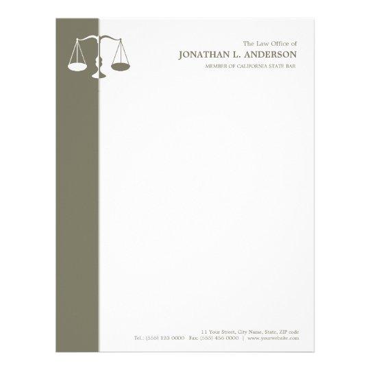 Cabeçalho do advogado/advogado papel timbrado