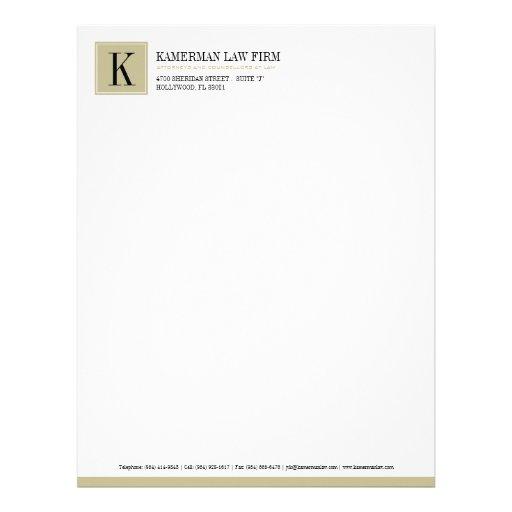 Cabeçalho do advogado papeis de carta personalizados