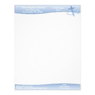 Cabeçalho do azul da simplicidade papel timbrado
