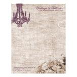 Cabeçalho do candelabro do vintage papéis de carta personalizados