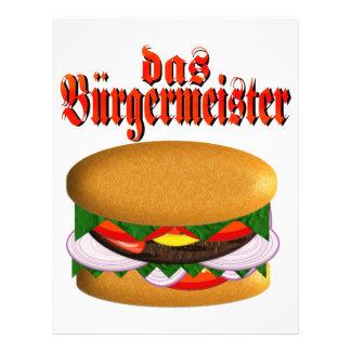 cabeçalho do DAS Burgermeister Papeis De Carta Personalizados